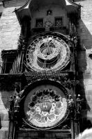 Astrological Clock. Monochrome by johnwaymont