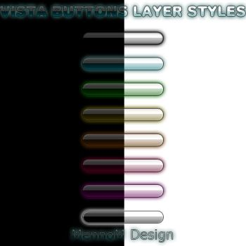 Layer styles: Vista buttons by MMennoMM