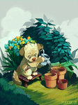 Little Gardener by cheepers
