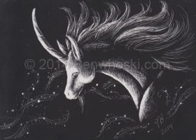 ACEO Unicorn by benwhoski