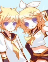 Kagamine Twins! by Emi-Liu