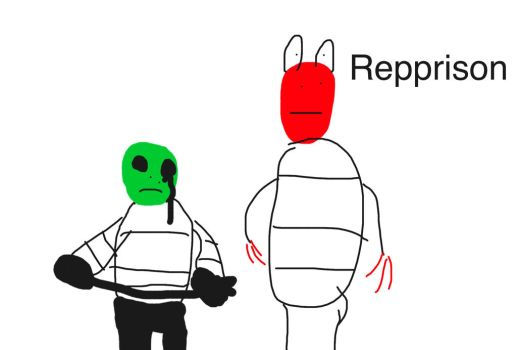 Repprison Sans and papyrus by Legcorn