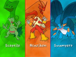 Pokemon Hoenn Starters Wallpaper by DarkGreiga