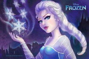 Frozen Elsa by LilaCattis
