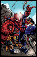 Avenging Spiderman by Hitotsumami