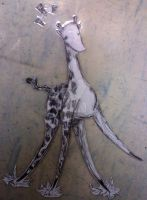 Unstable Giraffe Laminate-able by GlassCatfish