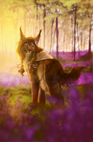 .: Lavender Forest :. by WhiteSpiritWolf