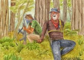 Relaxing Guerilla bears by SteinWill
