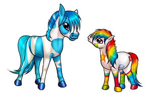 Colorful Ponies by Lilafly