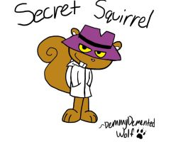 Secret Squirrel by DemmyDementedWolf