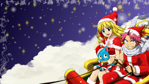 Fairy Tail Christmas Wallpaper by ChihaHime