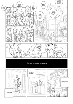 Page from an unfinished story by algenpfleger