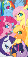 The Mane Six by ToastyToastie
