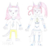 Shayla as Cure Beat by luis831