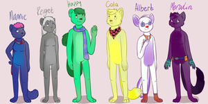 Sup characters by mega-guardevoir