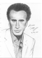Nicolas Cage by artemiscrow