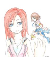 Kairi an Yuna Kingdom Hearts 2 by yuna-yume