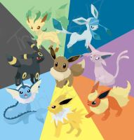 Eevee evolutions by trisstesa17