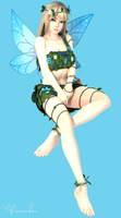 DOA Meshmod - Marie Rose Blue Fairy (DL) by YumieDolly