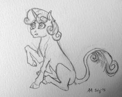 Sweetie Sketch by ambergerr