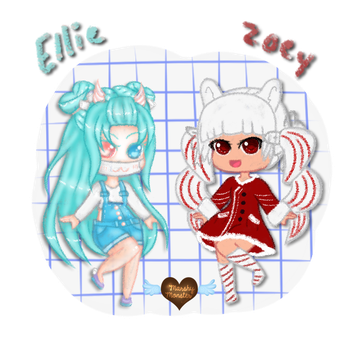 Ellie and Zoey by marshy-monster