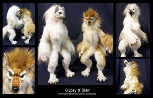 Custom Werewolf Dolls: Gypsy and Blair by WormsandBones