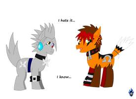 Lou and Riku MLP FIM Style 8D by Xx-LordVincent-xX