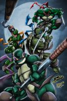 Teenage Mutant Ninja Turtles by Aberu-Chan