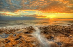 13th Beach Sunset 3 by daniellepowell82