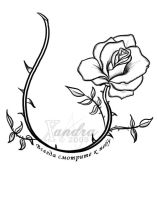 The Rose Vine -tattoo flash- by Xandra-sama