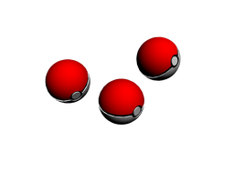 1st TrialRender-Pokeball_3dsm by moon-selena