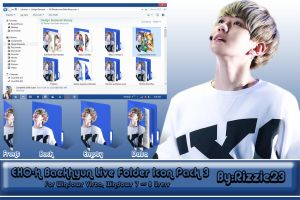 Baekhyun Live Folder Icon Pack 3 by Rizzie23