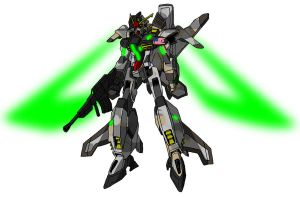 XMS/T-LW02 Mustang Gundam MS mode by unoservix