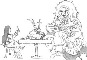 Ninurta - Coffee party with barbarian by alexine-pankhurst