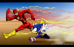 Flash VS Sonic by Whirlwind04