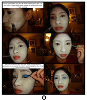 Chick P's makeup tutorial from Chop Socky Chooks 1 by Magic-Kristina-KW