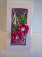 magenta flower arrangement, 3D canvas by HelenFlower