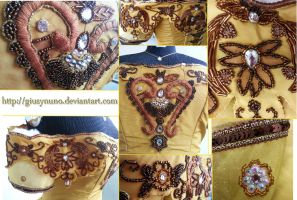 Belle's embroider details - Once Upon a Time by giusynuno