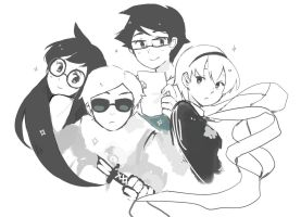 Homestuck Kids by WaffleNut