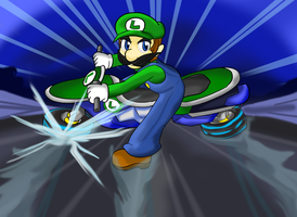 Luigi: Power Slide by Xero-J