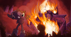 Sonic The Comic 20th Anniversary panel 25 by A-R-Q