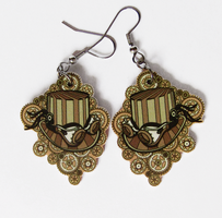 Steampunk hat earrings by Ketchupize