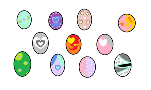 Mlp Free Valentine pony eggs (CLOSED) by Mlp-Free-Adopts