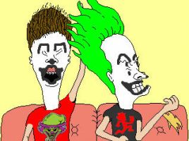 Juggalo Beavis And Butthead by WickedRedGrin