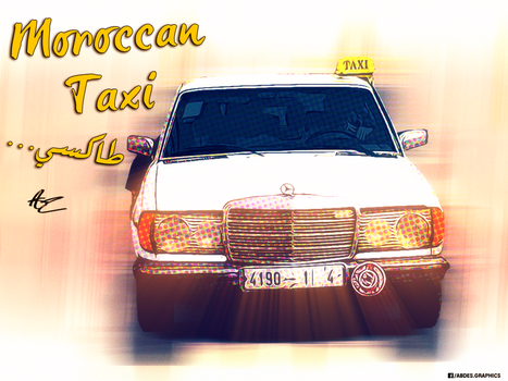 Moroccan Taxi by Abdessamad-zak