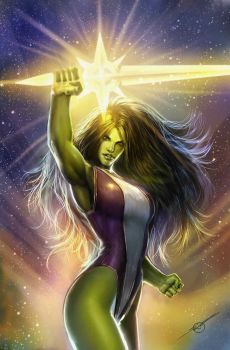 she hulk cover by nebezial