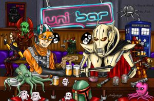 Art-trade- The Universal Bar by DalekMercy
