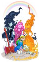 Adventure Time girls in color! by MichaelDooney