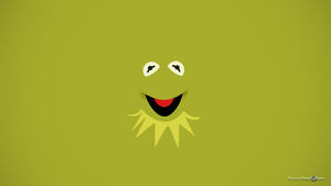 Kermit the Frog Minimalist Wallpaper by TheBigDaveC