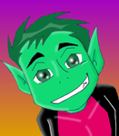 Beastboy- Look into my eyes... by Kawaii-BB-Lover